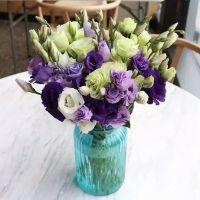 家养鲜花--紫色青色洋桔梗 到店取