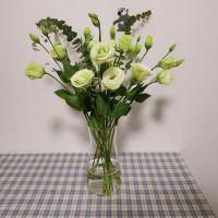 家养鲜花--青色洋桔梗 到店取