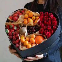 19枝红玫瑰鲜花水果礼盒中秋节感恩节国庆节端午节春节父亲节重阳节