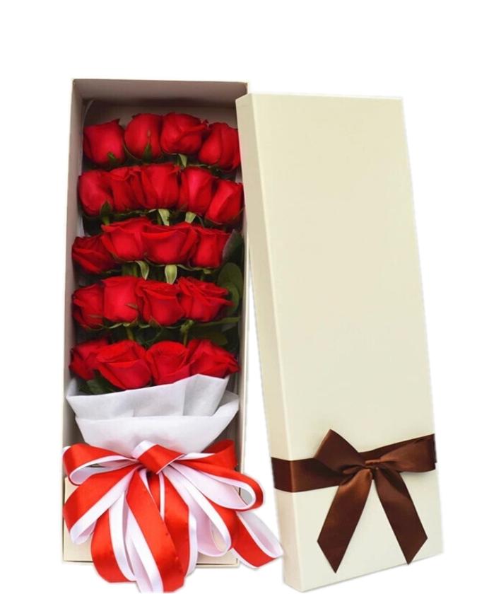 我最真挚的爱-红玫瑰19枝+2卡通礼盒