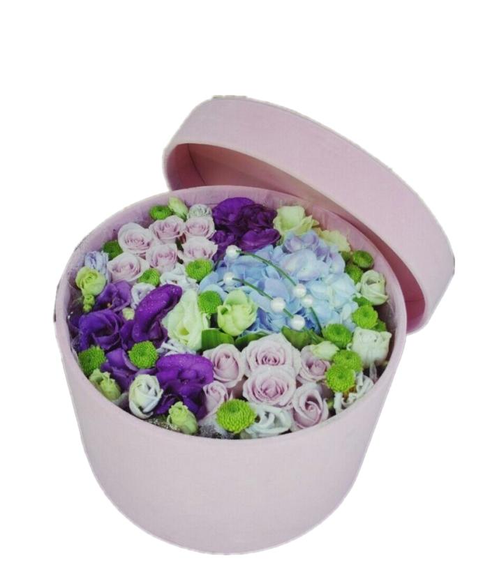 真爱如初-12枝紫玫瑰礼盒